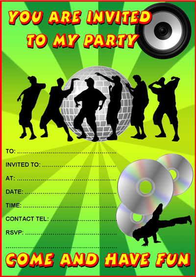Free Printable Disco Invitations Amazing Invitation Template