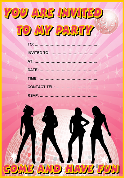 Party Invitations – Disco Party Invitations Free
