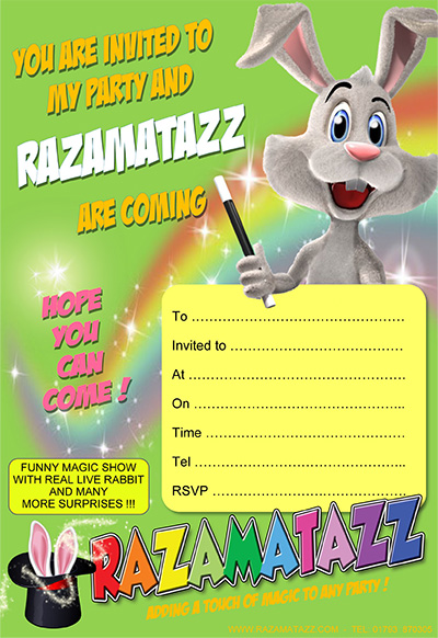 Razamatazz invitation green