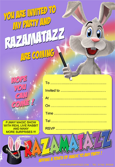 Razamatazz invitation lilac